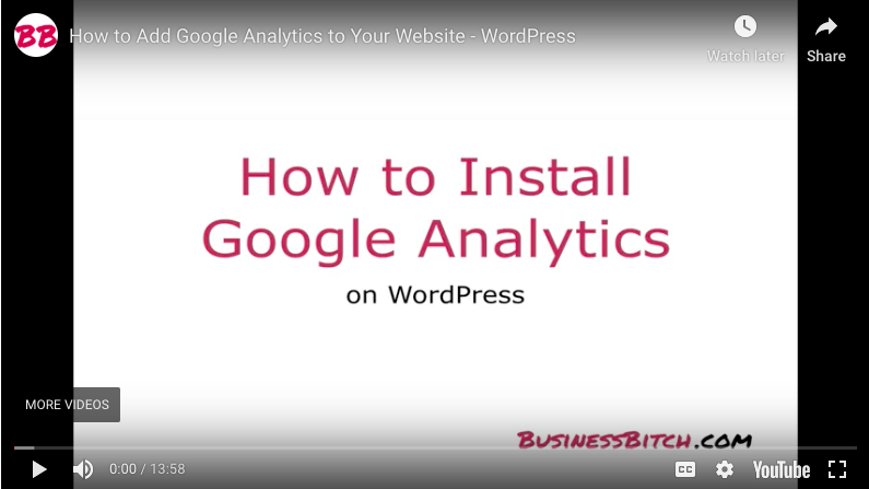 How to Add Google Analytics to Your Website: WordPress