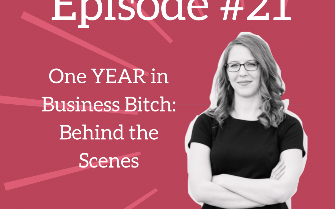 Ep. 21: Behind the Scenes – One Year in Business Bitch