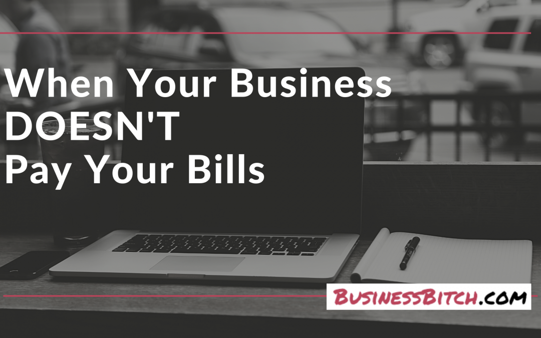 When Your Business DOESN'T Pay Your Bills
